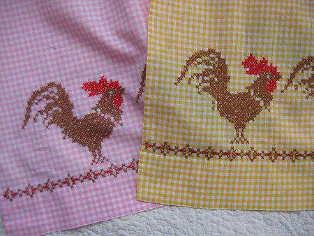 rooster aprons