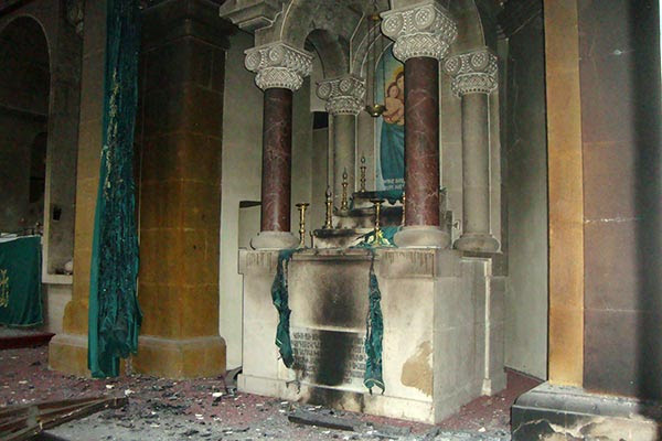 Armenian church reportedly burned down in Aleppo