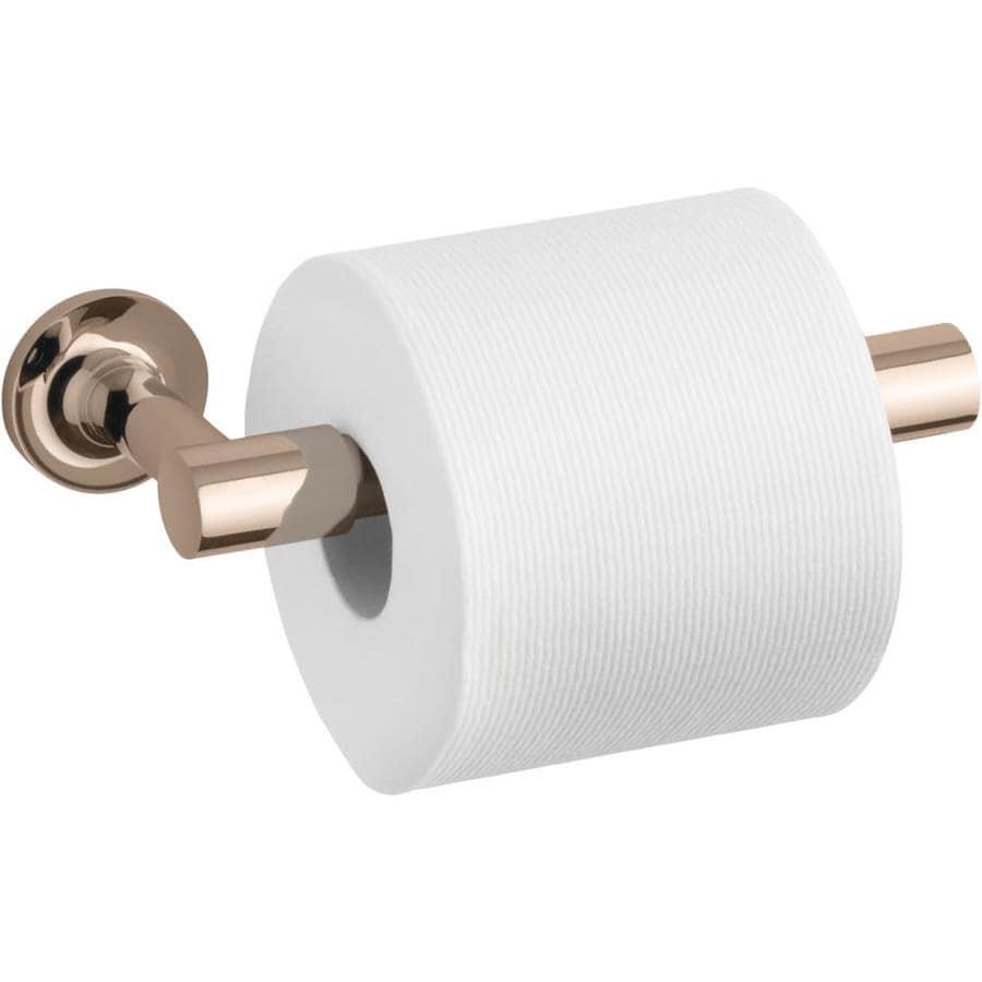 Kohler Purist Vibrant Rose Gold Wall Mount Pivot Toilet Paper Holder In The Toilet Paper Holders Department At Lowes Com