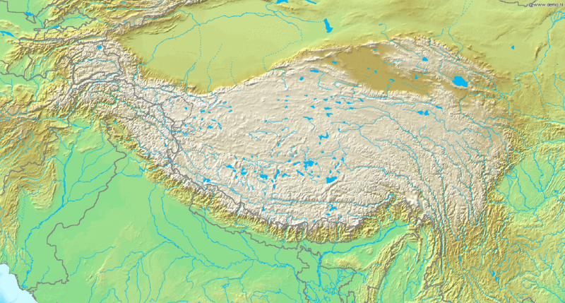 File:Topografic map of Tibetan Plateau.png