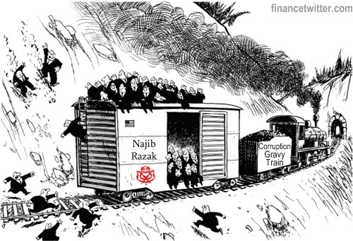 Najib Corruption Gravy Train