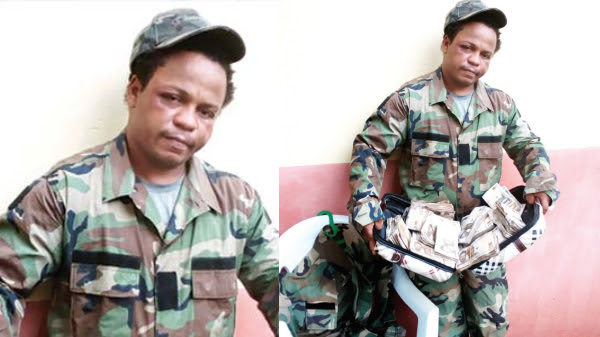 Dismissed US Soldier Arrested In Owerri For Defrauding Visa Seekers (Pics)