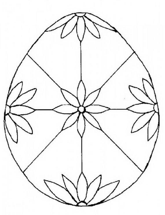 Easter Holiday Eggs Coloring Pages For Kids. - family ...