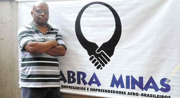 Bernardo Nascimento de Souza,  presidente do Coletivo de Empresários e Empreendedores Afro-brasileiros de Minas Gerais, diz que sempre foi vítima de preconceito racial (BETO MAGALHÃES/EM/D.A PRESS)