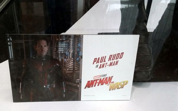The Ant-Man costume worn by Paul Rudd in ANT-MAN AND THE WASP...on display in Hollywood on July 8, 2018.