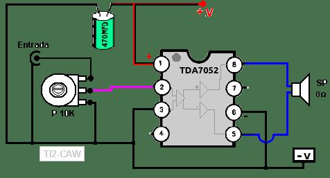 amplificador tda7052