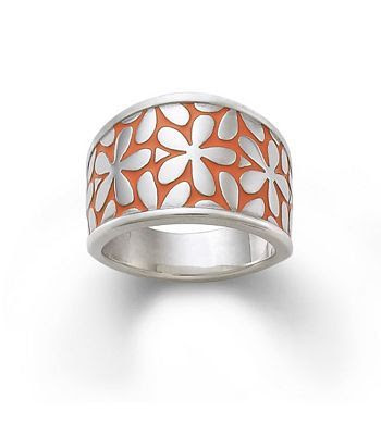 Enamel Spring Blossom Ring | James Avery While I like the orange, I wish there were color options to choose from.  Of course, that won't stop me from wanting it!