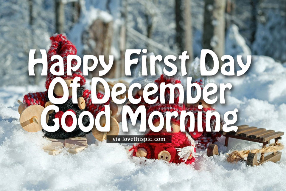 Doll Happy First Day Of December Good Morning Quote Pictures Photos