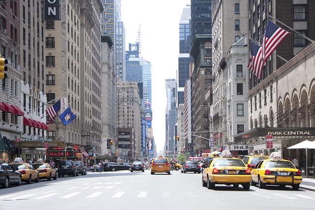 Down 7th Avenue, nyc