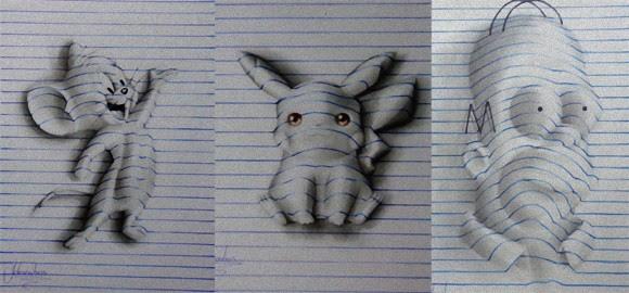 これはすごい15歳少年が編み出したノートの線で描く飛び出す3d