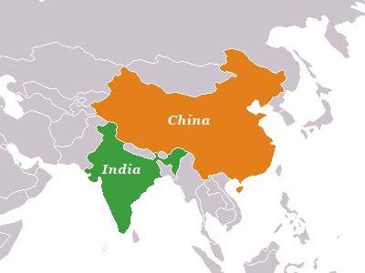 Resultado de imagem para china e índia