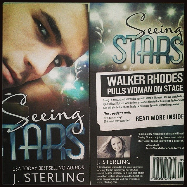 Ahhhhhhhhhh!!!!!!!!!!  Paperpback proofs arrived!  So pretty!! #IHaveTheBestCoverDesigner #SeeingStars #WalkerandMadison