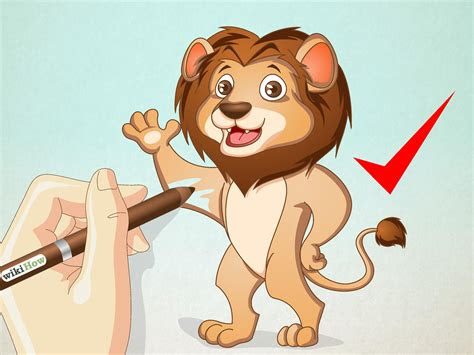 draw  cartoon lion  steps  pictures wikihow
