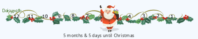 Daisypath Christmas tickers