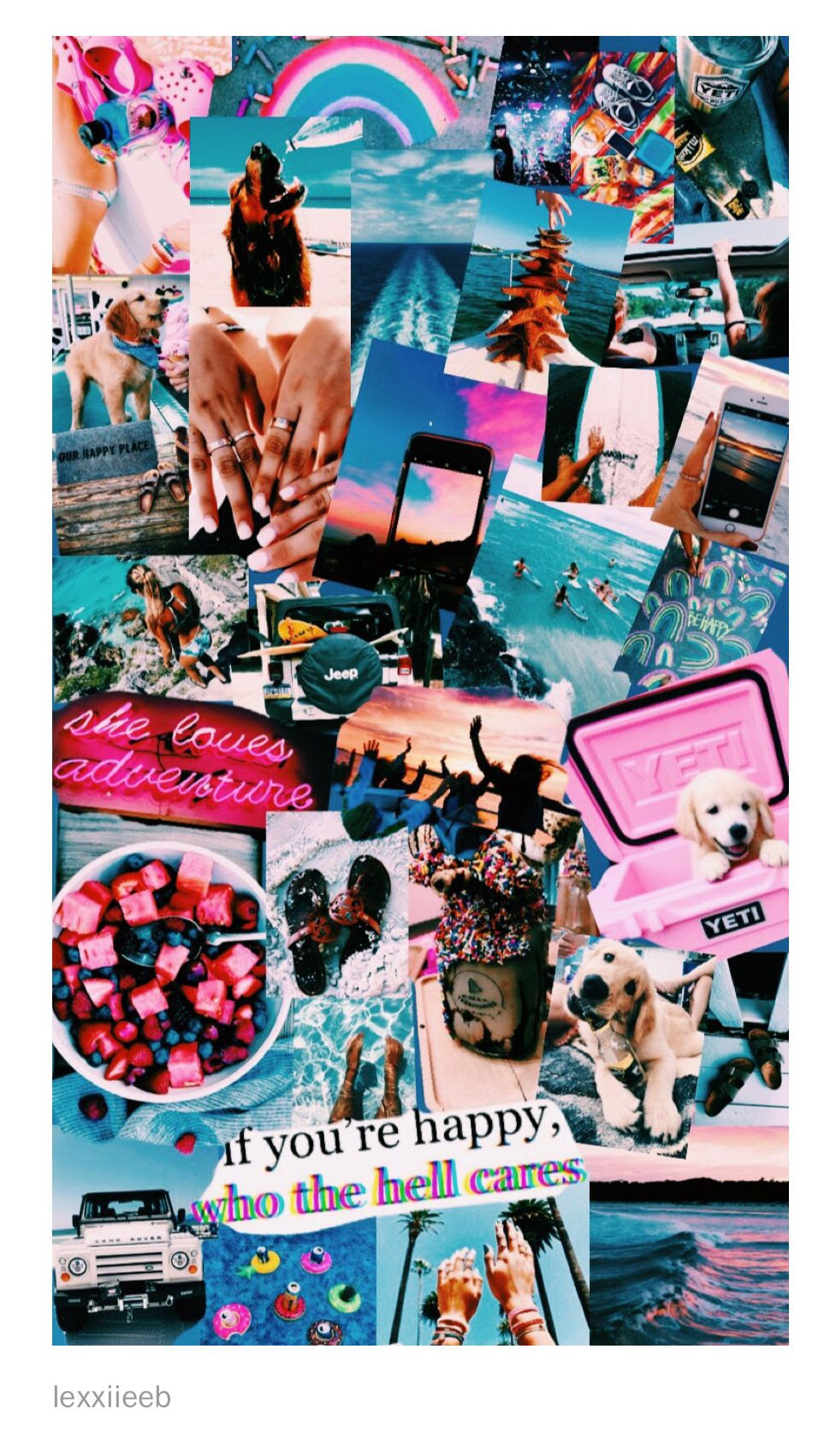 Pink Aesthetic Wallpaper Collage Cuteanimals
