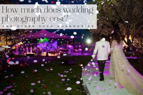 How much does wedding photography cost ? and other such
