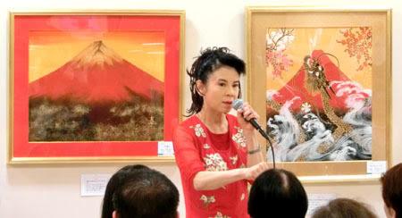 あいはら友子,赤富士絵画展,<br/>トークショー&サイン会,2015,三重県,津,松菱,百貨店