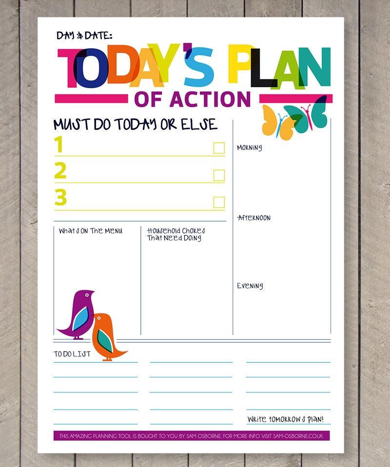 Printable Planner Daily To Do List Family by SamOsborneStore