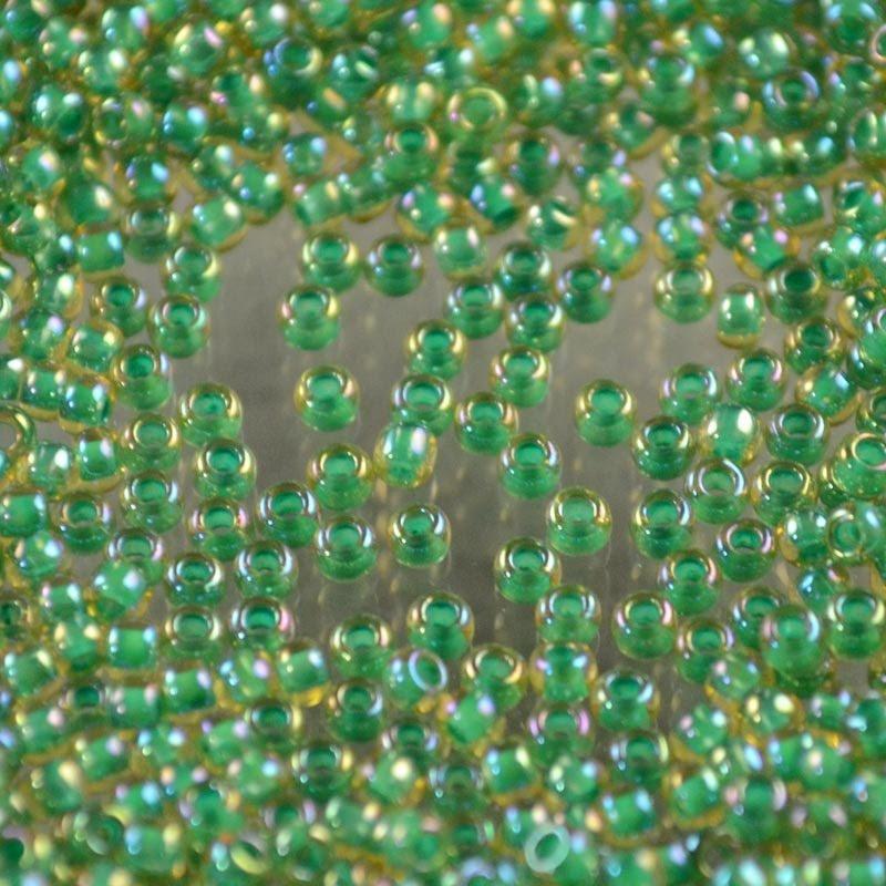 tb11r1830 Japanese Seedbeads - 11/0 Toho Seedbeads - Inside Color Mint/Light Amber