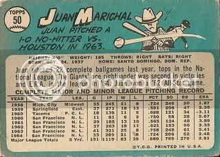 #50 Juan Marichal (back)