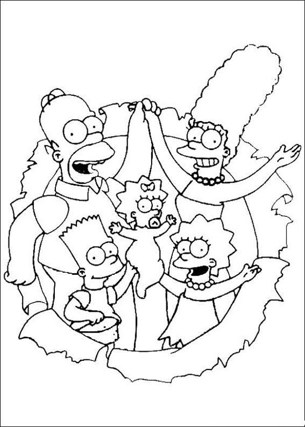 Coloriage Les Simpsons 11 Momesnet