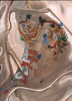 Painting of an embroidered silk cloth