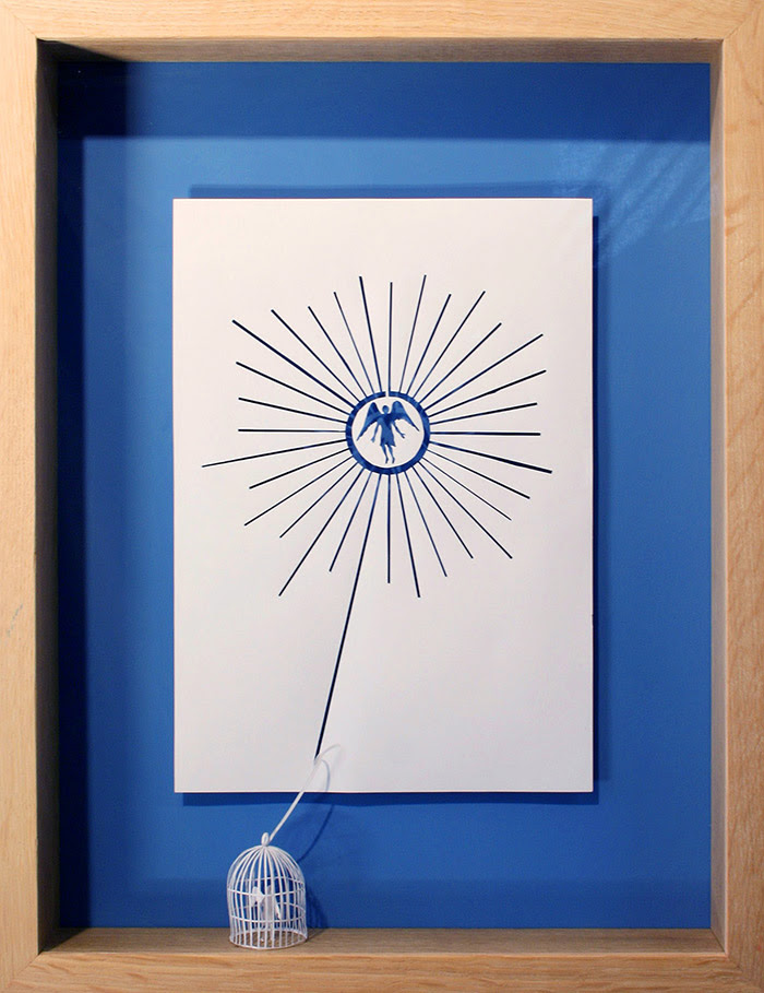 15 angel 11 25 Striking Framed Papercuts by Peter Callesen