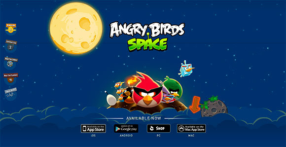 space.angrybirds.comlaunch : One Page Website Designs Examples