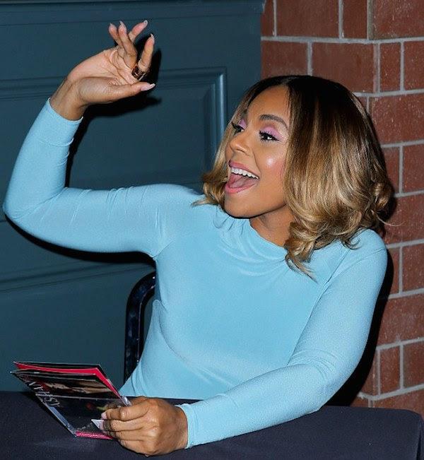 1 Ashanti's Pacquiao vs. Bradley Fight Celebboutique Amara Turquoise Blue Draped Long Sleeve Dress