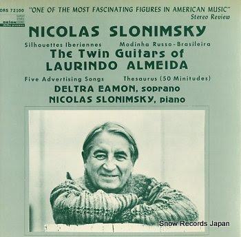 SLONIMSKY, NICOLAS twin guitars of laurindo almeida, the