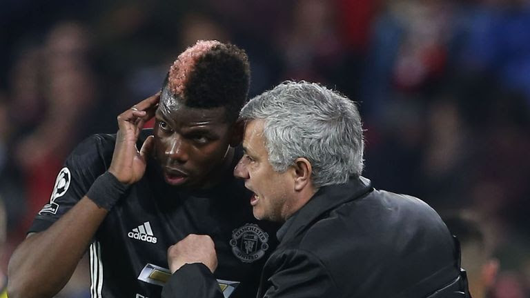 Image result for jose mourinho and paul pogba