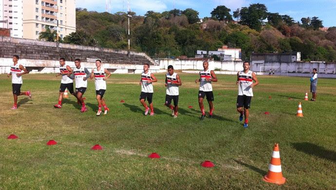 Santa Cruz de Natal - teste físico Estádio Juvenal Lamartine (Foto: Divulgação/Santa Cruz de Natal)