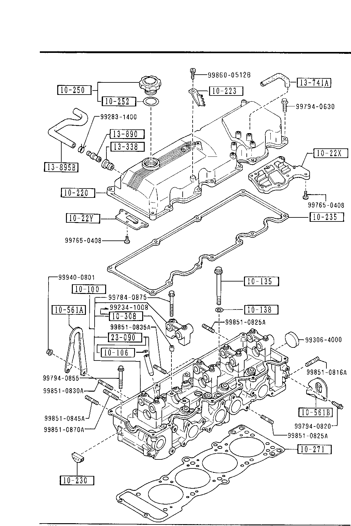 1987 Mazda Engine Part Diagram