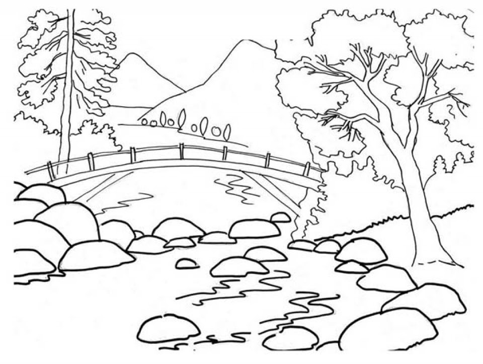 Get This Simple Nature Coloring Pages to Print for ...