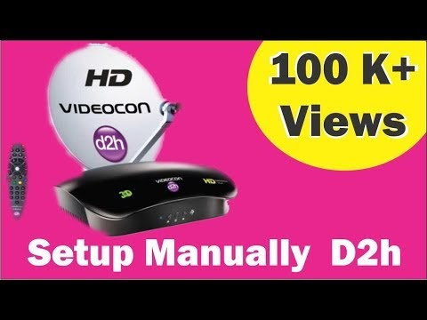 How to channel setup manually in Videocon D2H