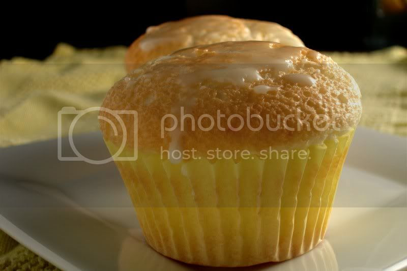 Lemon Angel Food Cupcakes with Icing