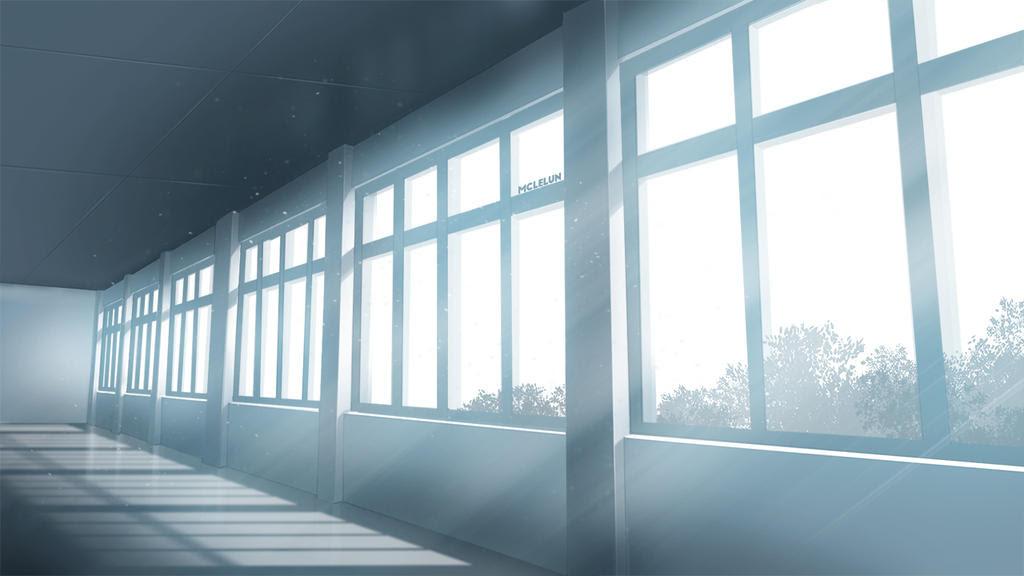 Painting Anime Corridor Scene
