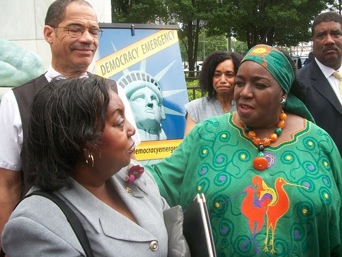 City Councilwoman JoAnn Watson during a press conference announcing a lawsuit to stop the Emergency Manager law in the state of Michigan. The law provides for the abolition of local control. (Photo: Abayomi Azikiwe) by Pan-African News Wire File Photos