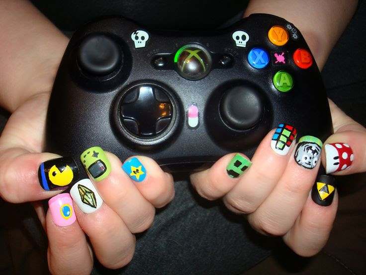 Gamer Nails   Nails   Pinterest