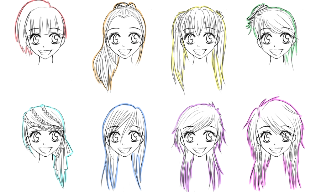 Top Graphic of Manga Girl Hairstyles | Christopher Lawson Journal