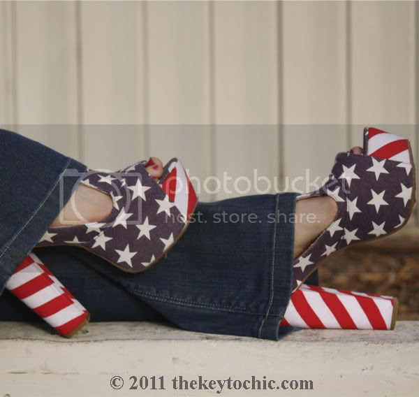fringe biker jacket, flared H&M jeans, Jeffrey Campbell Foxy flag stars and stripes, California fashion blog