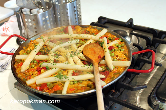 Paella al estilo Navarro (Paella in the style of Navarro)