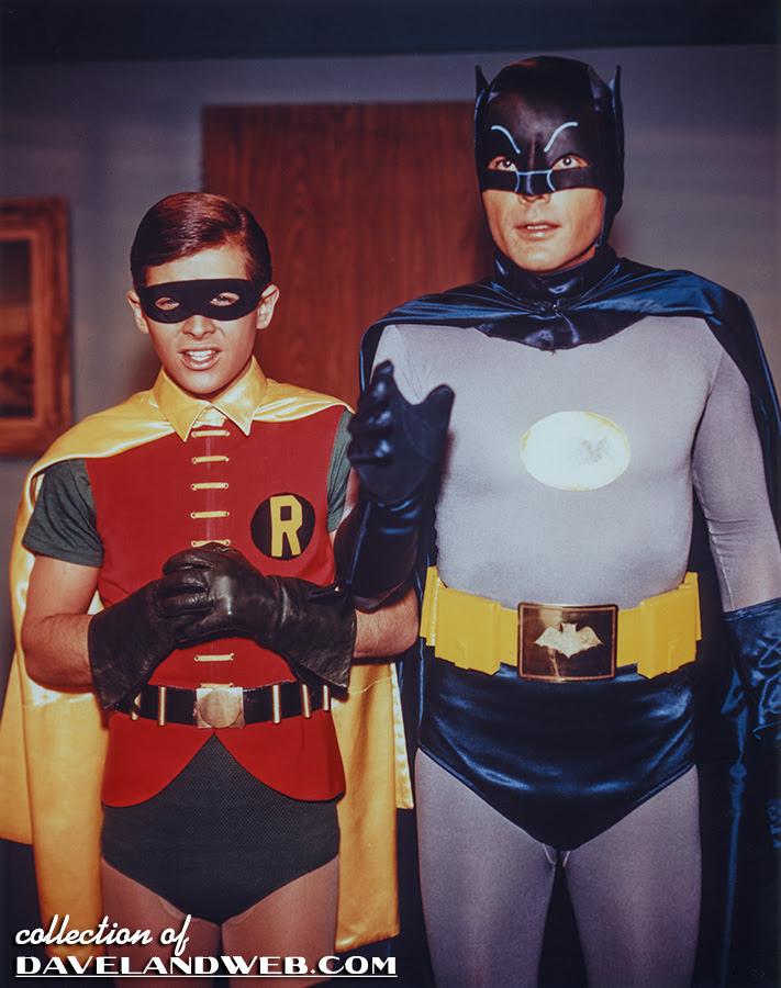 Burt Ward and Adam West Batman photo