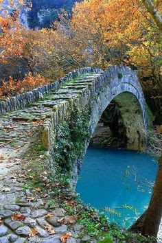 Ancient Stone Bridge, Epirus, Greece | Amazing Snapz