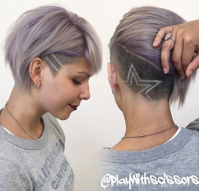 45 Undercut Hairstyles With Hair Tattoos For Women Fashionisers
