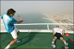 Burj Al Arab Hotel Dubai Flying Tennis Court Pictures Gallery