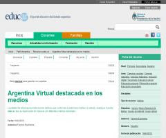 Argentina Virtual destacada en los medios