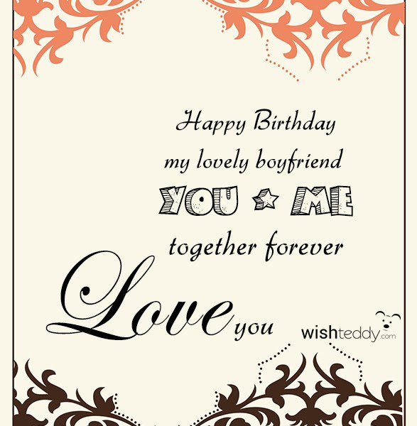 Happy Birthday My Lovely Boyfriend You And Me Together Forever