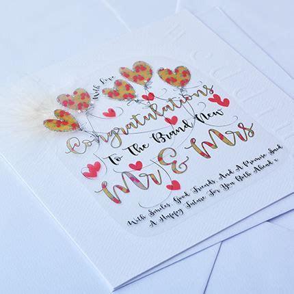 Handmade Congratulations Mr & Mrs Wedding Card   Large