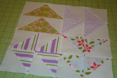Sew Fun pinwheel block for Quilt Happie